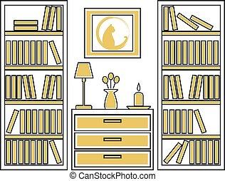 Interno casa disegno illustration vivente bagno for Disegno interno casa