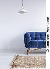 interno, casa, sofà blu