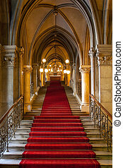 interno, castello, gotico