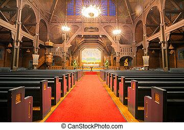 interno, cattedrale, kiruna