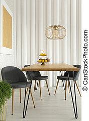 interno, cenando, stanza moderna