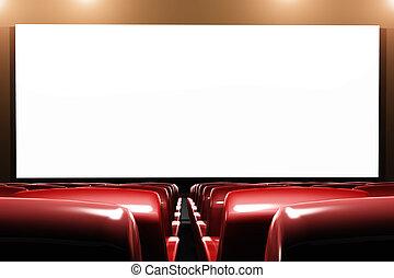 interno, cinema, auditorio