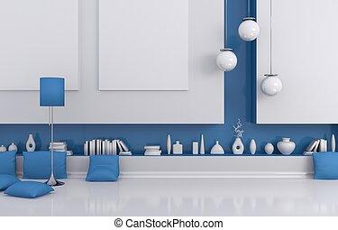 interno, composition., moderno