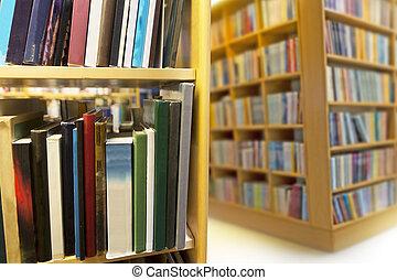 interno, da, biblioteca pubblica