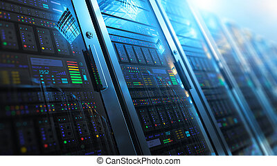 interno, datacenter, stanza, server