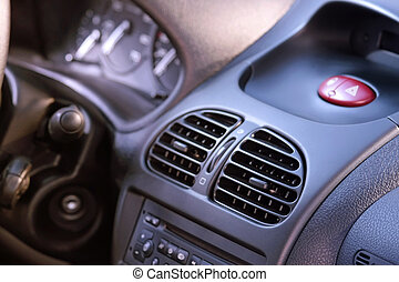 interno, di, il, moderno, automobile