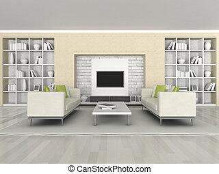 interno, di, il, stanza moderna