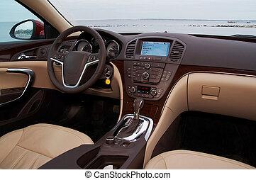 interno, di, uno, moderno, automobile