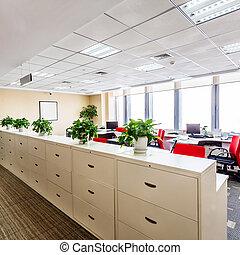 interno, di, uno, moderno, ufficio