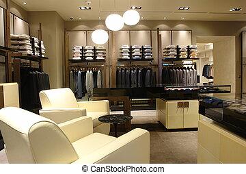 interno, di, uno, negozio