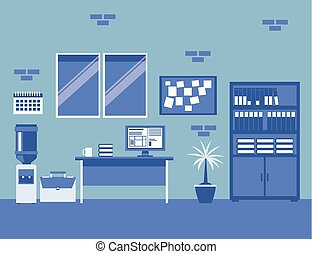 interno, ditta, ufficio affari