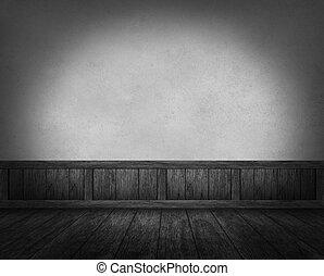 interno, grunge, parete, legno