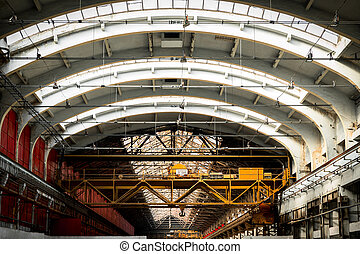 interno, industriale, vecchio