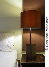 interno, lampada, disegno, camera letto