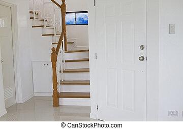 interno, legno, scale