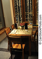 interno, lusso, moderno, ristorante