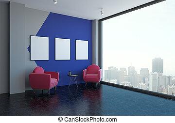 interno, manifesti, stanza moderna