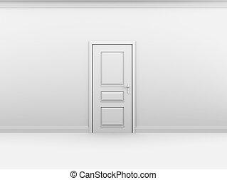 interno, metallo, bianco, manico porta
