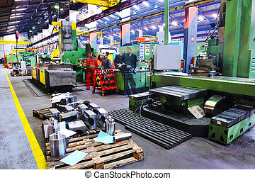 interno, metallo, industy, fabbrica