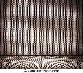 interno, metallo, ruggine, fondo