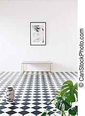 interno, minimalista, fotografia, galleria