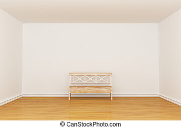 interno, minimalista, vuoto, panca