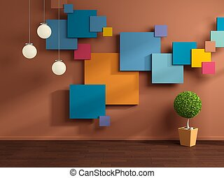 interno, moderno, composizione