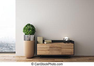 interno, moderno, disegno