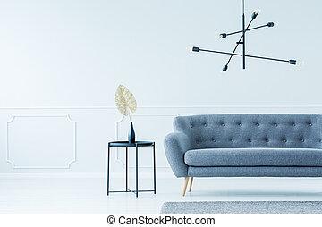 interno, moderno, divano