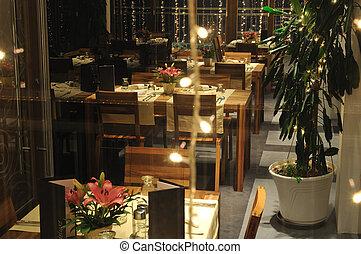 interno, moderno, lusso, ristorante