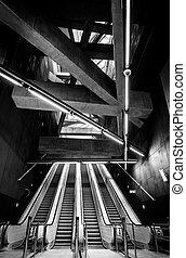 interno, moderno, metro
