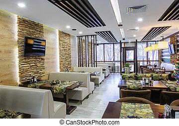interno, moderno, ristorante