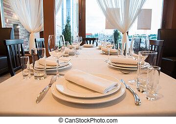 interno, moderno, sbarra, ristorante