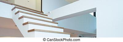 interno, moderno, scala