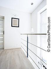 interno, moderno, soffitta, entresol