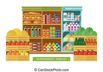 interno, negozio, supermercato