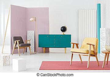 interno, pastello, spazioso, appartamento