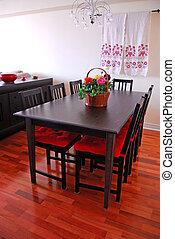 interno, sala da pranzo