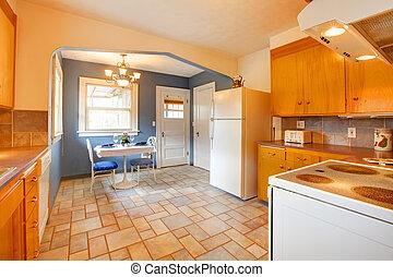 interno, sala da pranzo, cucina