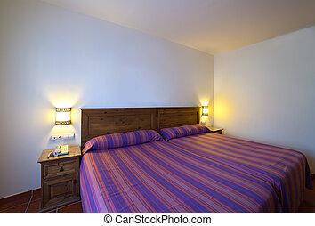 interno, semplice, camera letto