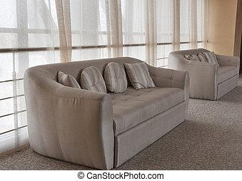 interno, sofà