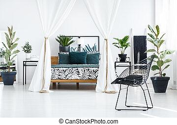 interno, sofisticato, camera letto