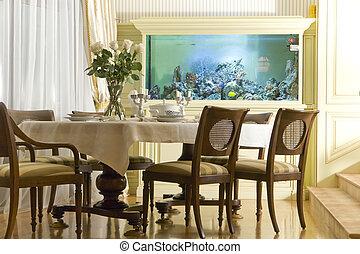 interno, stanza, dinning