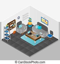 interno, stanza, disegno