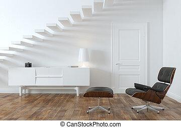 interno, stanza, minimalista