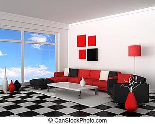 interno, stanza moderna