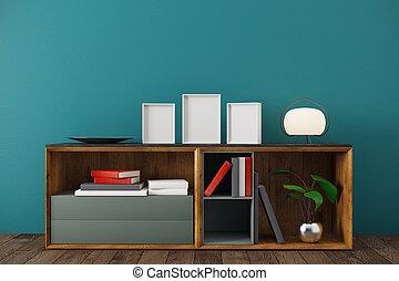 interno, stanza moderna, gabinetto
