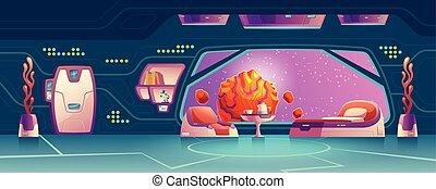 interno, stazione, vettore, stanza, spazio