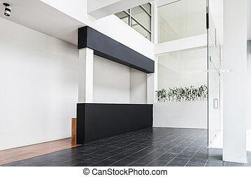 interno, stile, architettura moderna, minimo