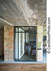 interno, stile, soffitta
